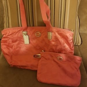 Coach Travel Bag with snap on pouch included